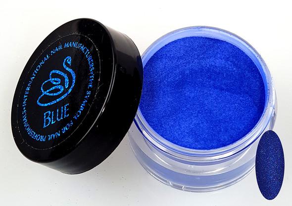 INM NORTHERN LIGHTS HOLOGRAPHIC BLUE GLITTER ACRYLIC POWDER