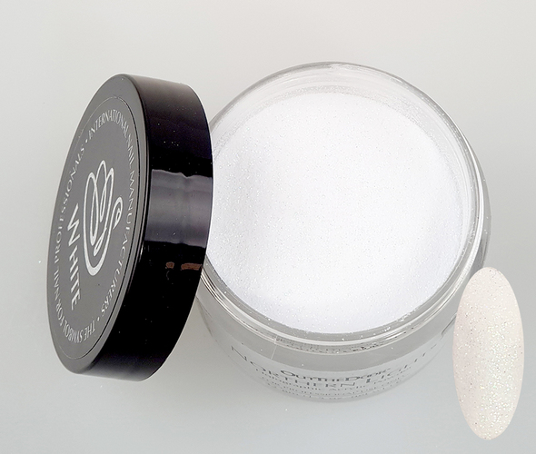 INM NORTHERN LIGHTS HOLOGRAPHIC WHITE GLITTER ACRYLIC POWDER (ULTRA FINE GLITTER)