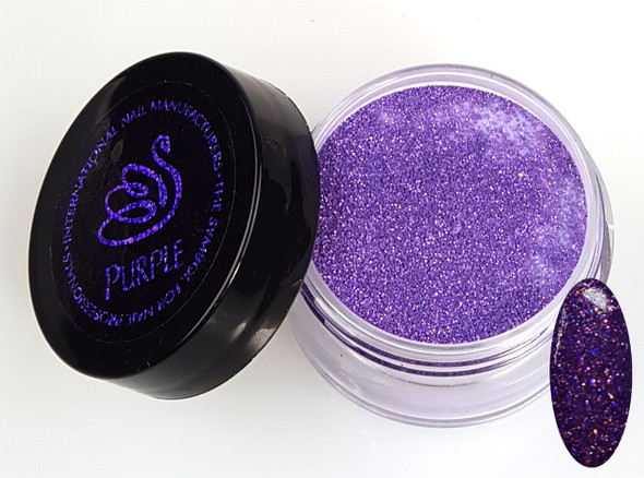 INM NORTHERN LIGHTS HOLOGRAPHIC PURPLE GLITTER ACRYLIC POWDER