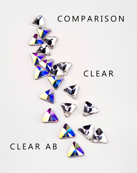 Comparison between Clear & Clear AB Large Clear.