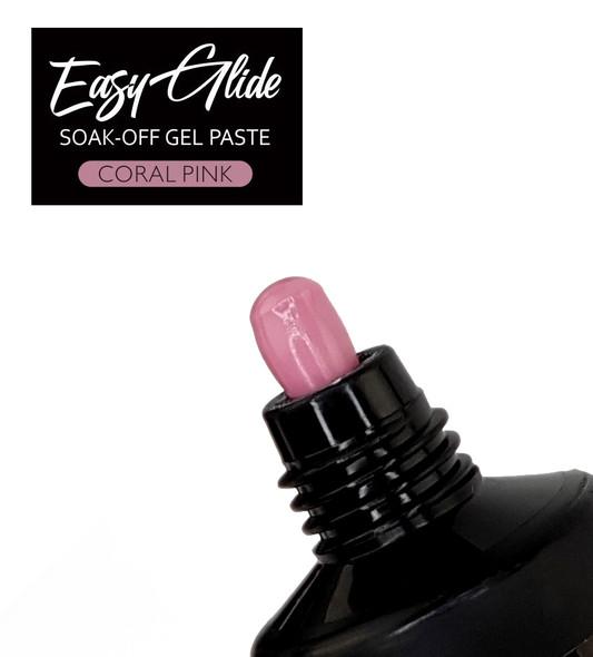 Easy Glide Soak-Off UV/LED Gel Paste For Nails (HEMA FREE) - Coral Pink 30gm