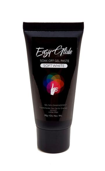 Easy Glide Soak-Off UV/LED Gel Paste For Nails (HEMA FREE) - Soft White 30gm