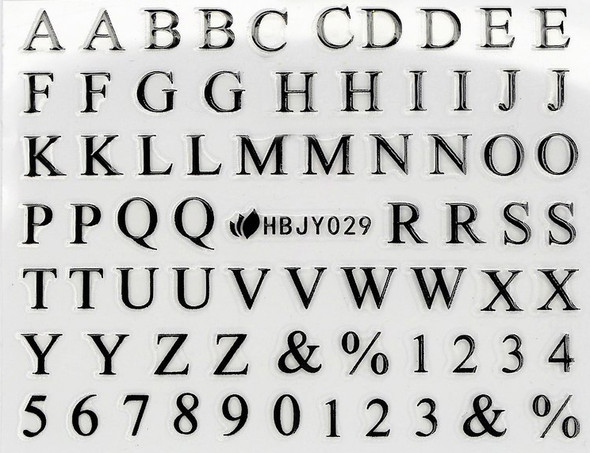 Black Capital Letters Text & Numbers Nail Art Stickers (Black or White). Create  Ouija Board Nails for Halloween!