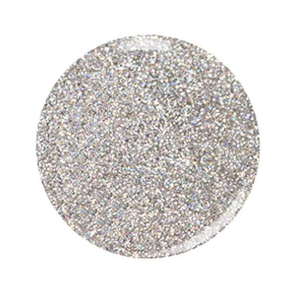 Kiara Sky Coloured Glitter Nail Dip Powder - Feelin Nutty D561 (Fine Silver Holo Glitter)