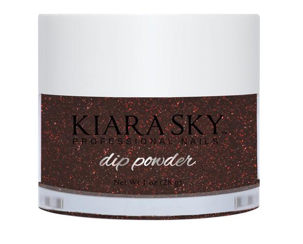 Kiara Sky Coloured Glitter Nail Dip Powder - I'm Bossy D578 (Burgundy & Red Glitter)