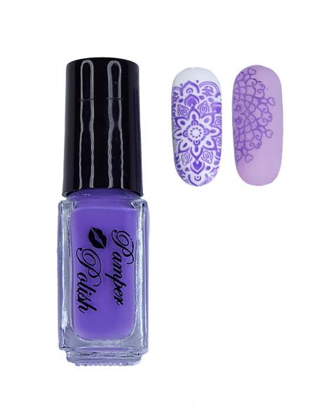 Pamper Polish Nail Stamping Plate Polish Mini 5ml - Light Purple