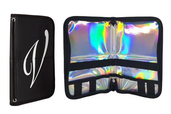 En Vogue Professional Nail Wallet (Black & Holographic). Nail Brush Case.
