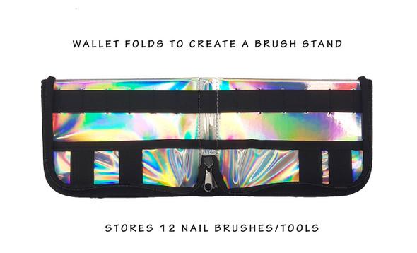 En Vogue Professional Nail Wallet (Black & Holographic)