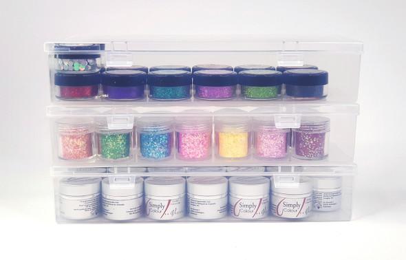 Empty Plastic Container Box Storage for Nail Art Gel (24.8cm X 7.7cm X 4.6cm)