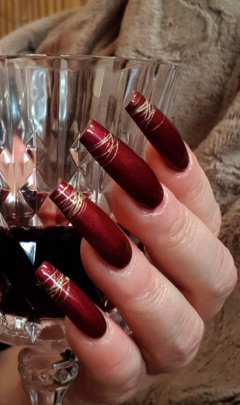 Lac It!™ Advanced Formula Gel Polish 15ml - 50 Shades of Red (The Winter Collection). Red Burgundy Pearl UV/LED Gel Polish