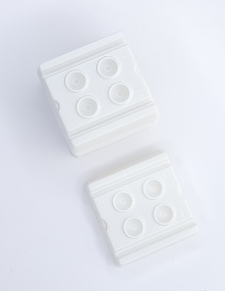 200PCS X Disposable White Mixing Well Trays for Gel/ Polish/Paints/Inks/Tints/Henna
