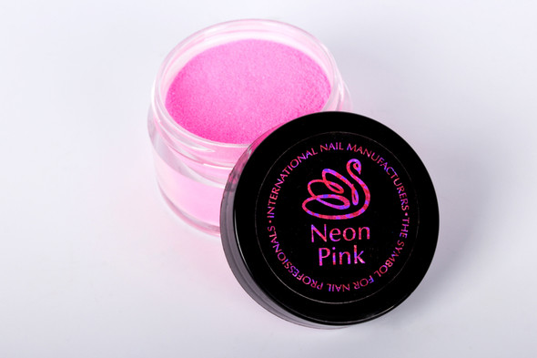 INM Northern Lights Holographic Neon Pink Glitter Acrylic Nail Powder
