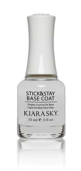 Kiara Sky Clear Nail Lacquer Base Coat Nail Lacquer - Sticky & Stay! 15ml Bottle