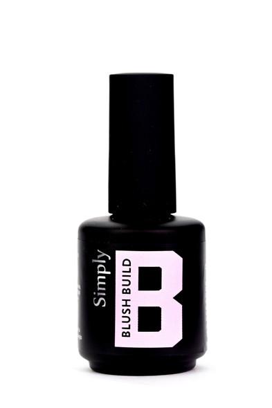 Simply Blush Build UV/LED Clear Top Coat Hard Gel (No Wipe!) - 15ml Bottle