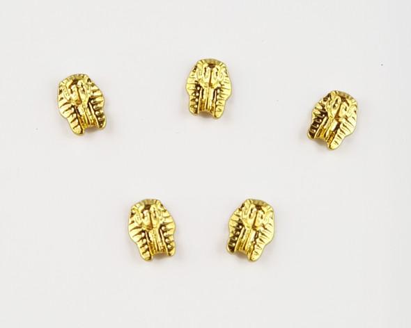 Small Gold Egyptian Mask Nail Charms for Nail Art (5PCS Per Bag)