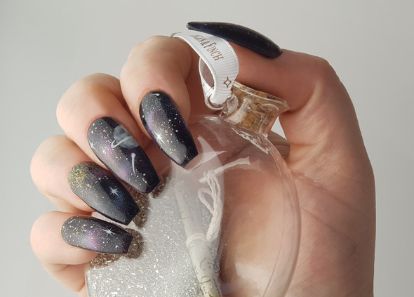 Example of Use. Full Cover Clear Matte Ballet Nail Tips.