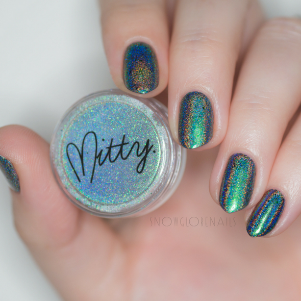 Mitty Super Holo Latin Viridi (Green) Nail Pigment Powder (0.5gm)