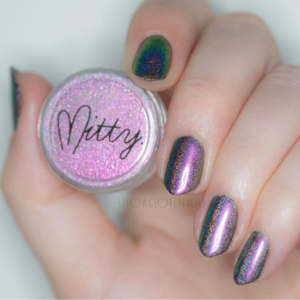 Mitty Super Holo Latin Purpura (Purple) Nail Pigment Powder (0.5gm)