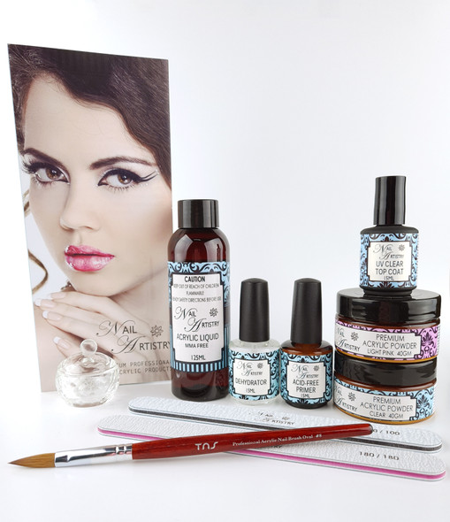 Nail Artistry Premium Acrylic Nail Starter Kit (Skin Friendly Products)