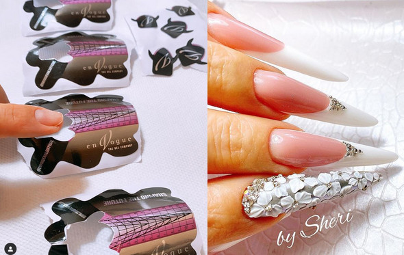 Stiletto Nail Forms. Disposable Nail Forms. Nails by @mme_sheri