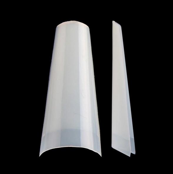Supreme Half-Well Nail Coffin Nail Tips - Natural (Box of 500PCS)