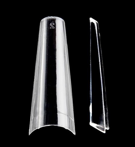 Supreme Half-Well Nail Coffin Nail Tips - Clear (Box of 500PCS)