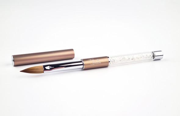 Nail Artistry Designer Kolinsky Sable Acrylic Nail Brush Oval #8