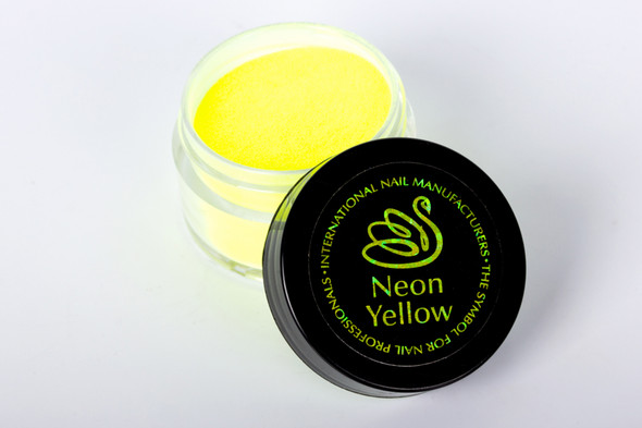 INM Northern Lights Holographic Neon Yellow Glitter Acrylic Nail Powder 15gm