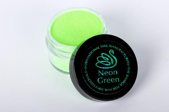 INM Northern Lights Holographic Neon Green Glitter Acrylic Nail Powder 15gm