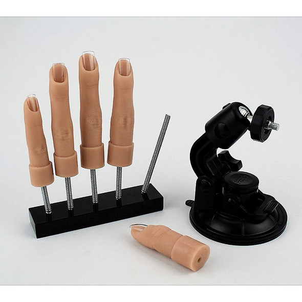 Flexihand for Nail Training (Individual Silicone Fingers) - Stand & Suction Base