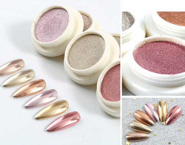 Gold Nail Pigment Powder Series (Available in 6 Shades of Gold)