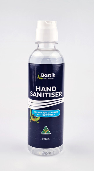 Bostik Hand Sanitiser Gel (300ml Flip Top Lid) - Made in Australia