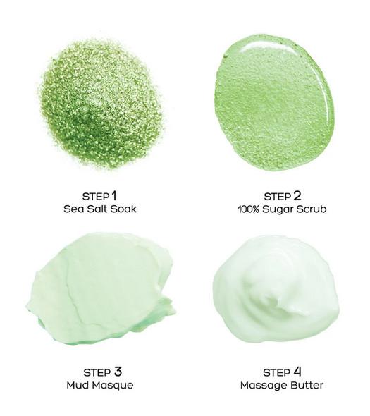 Voesh 4 Step Pedi-In-A-Box Cucumber Fresh