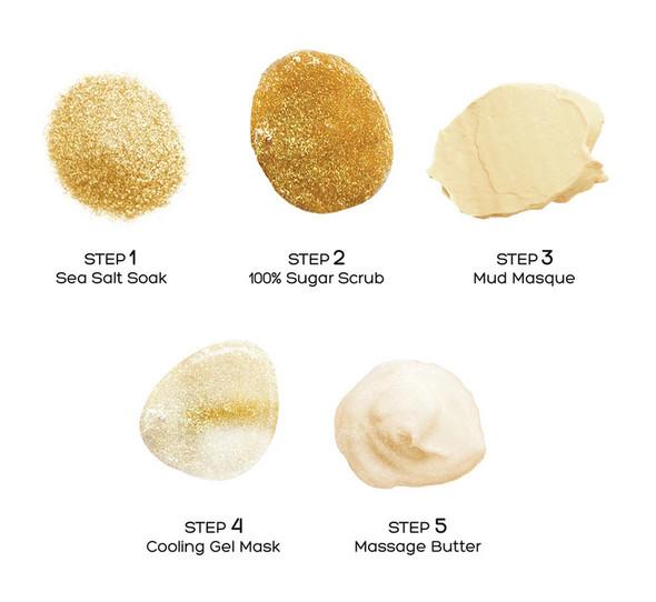 Voesh 5 Step Golden Glimmer Spa Pedi-In-A-Box