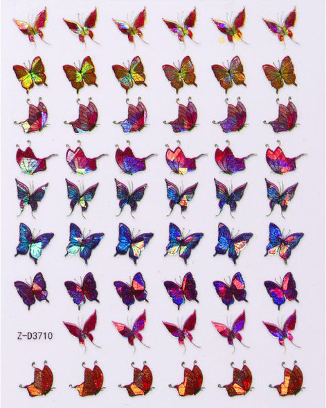 Laser Butterfly Nail Stickers - SET #1