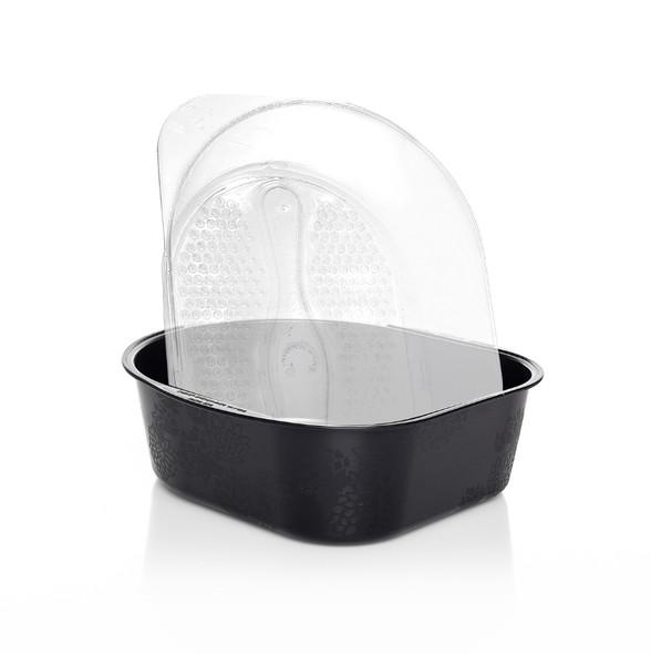 Belava Foot Bath Tub + 20PCS Disposable Liners (Black Tub)