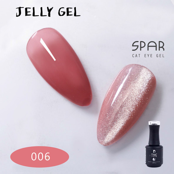 TNS Jelly Gel Polish Colours (15ml Bottle) - WARM PINK NUDE