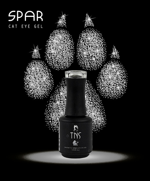 TNS Spar Cat Eye Magnetic Gel Polish (15ml Bottle) - SILVER