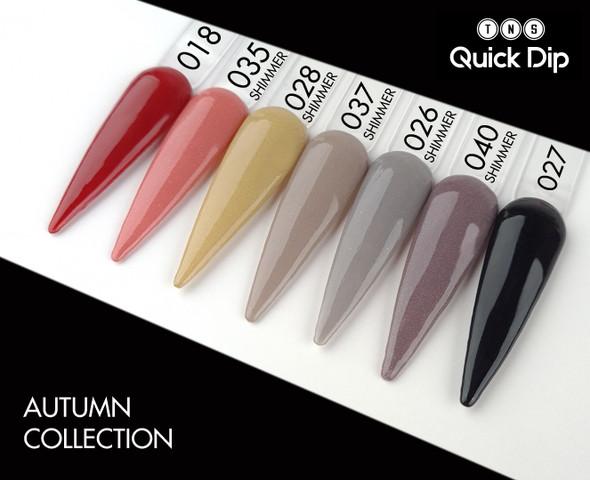 TNS Quick Dip Fast Setting Coloured Powder 28gm. Autumn Nail Colours. Black QD027