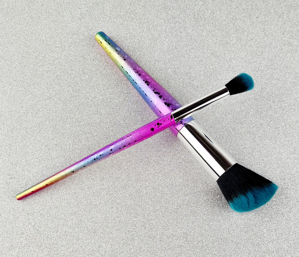 2PCS X TNS QUICK DIP Rainbow Nail Dust & Ombre Brush Kit (Rainbow)
