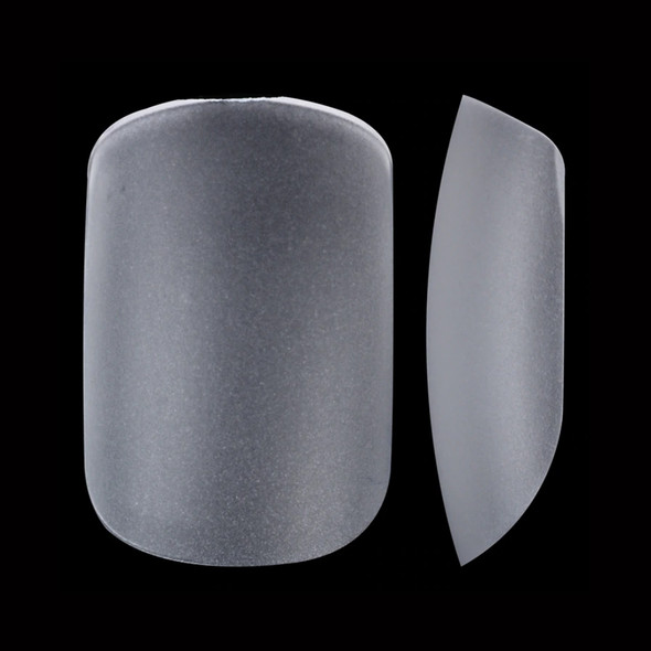 Short Square Clear Full Cover Etched Press On Nail Tips (Bag of 300PCS, 10 Sizes)