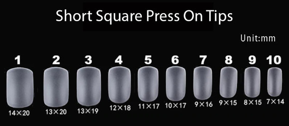 Short Square Press On Soft Gel Nail Tips