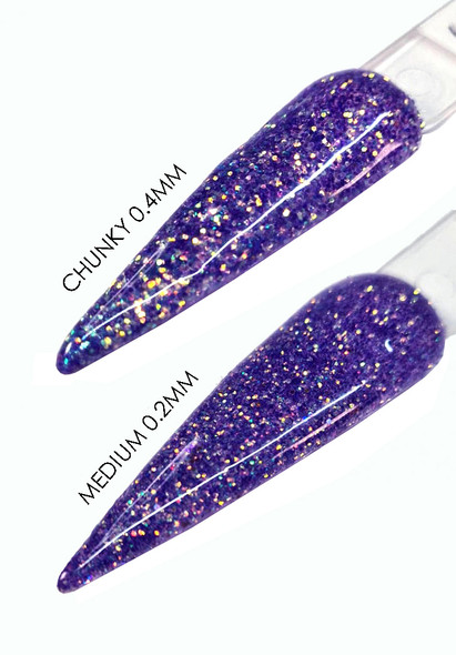 TNS BLUE MOON Iridescent Pink Glitter for Nail Art (15gm Bag)  - Size Medium or Chunky