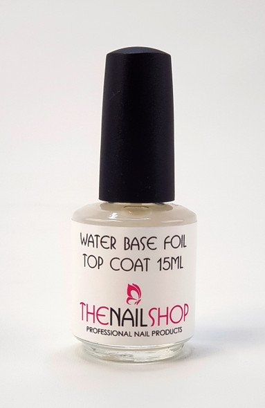 TNS Clear Top Coat (Slow Dry Water Based) - Great For Nail Foiling! NEW 15ml Bottle