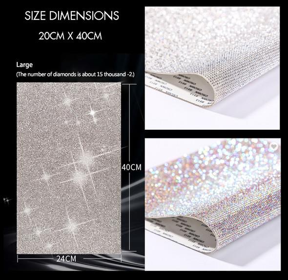 Adhesive Rhinestone Sticker Sheet LARGE 40cmX24cm (Clear or Clear AB)