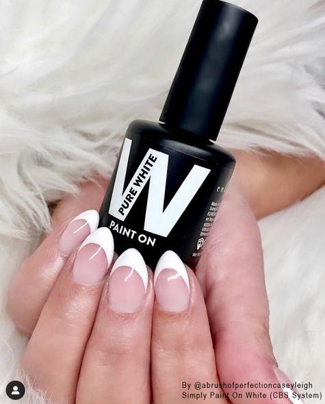 Simply Paint On Pure White UV/LED Gel - 15ml Bottle