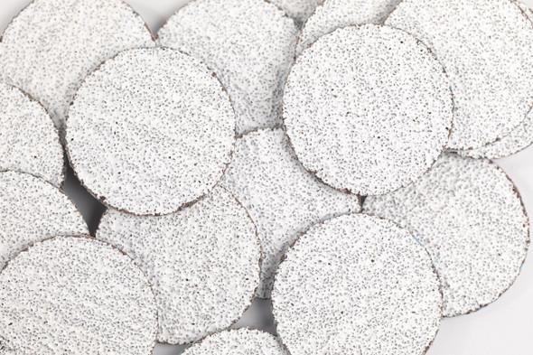 50PCS X Disposable Premium White Zebra 3cm Sanding Discs for Pedicures - COARSE #80 GRIT