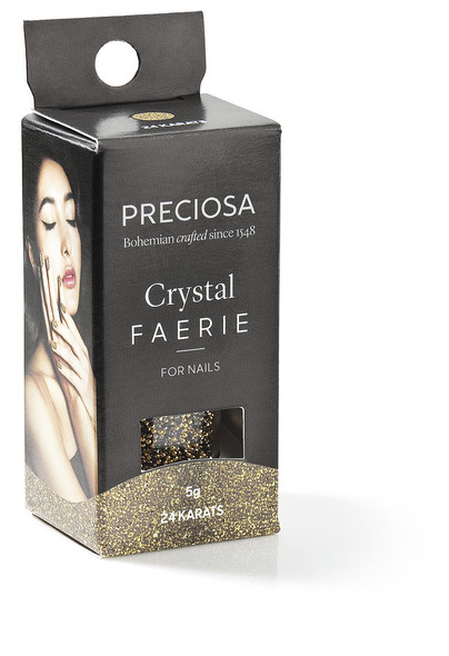 Preciosa Crystal Faerie for Nail Art - 24 KARATS (Featuring Metallic Gold)