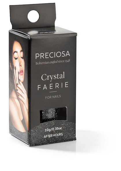 Preciosa Crystal Faerie for Nail Art - AFTER HOURS (Featuring Jet Hematite)
