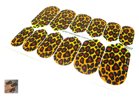 Glamstripes Nail Covers - Traditional Leopard Print Design